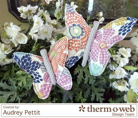tutorial fabric butterfly clips sewing