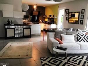 Salon Cuisine Ouverte : le th me est ici le noir et le blanc dans ma cuisine ~ Melissatoandfro.com Idées de Décoration