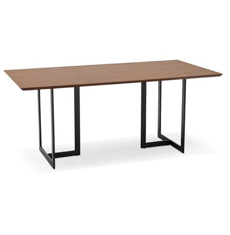 table bureau design table design titus en bois de noyer bureau moderne 180x90 cm