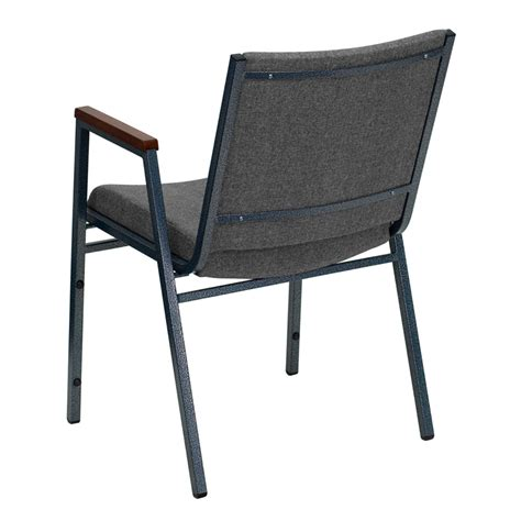 hercules series heavy duty gray fabric stack chair with