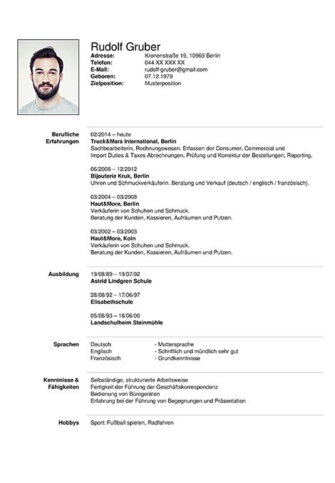 wizard creator german cv