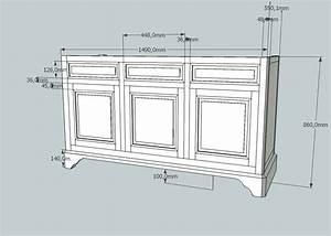Plan De Meuble : meuble peint sur mesure patine traditionnelle ~ Melissatoandfro.com Idées de Décoration