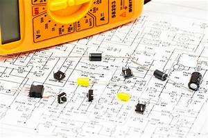 Part Of An Electronic Circuit Diagram Stock Photo