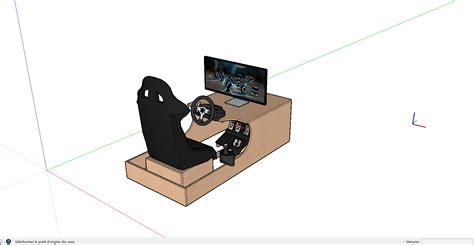 siege volant cockpit de jeux volant logitech