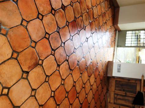 terracotta floor tile matching mixed terracotta kitchen tiles in paxford
