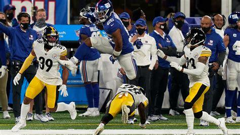 steelers  giants saquon barkley jumped   defender
