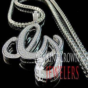 iced out custom silver hip hop initial letter g pendant With custom letter chains