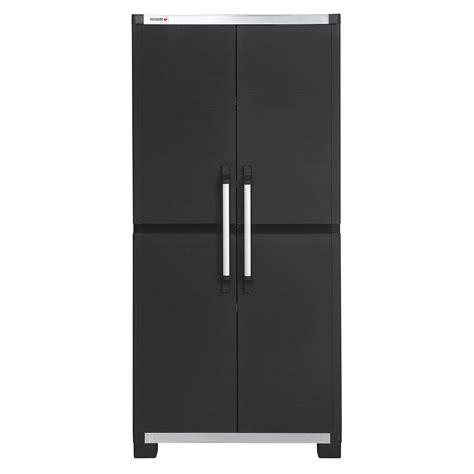 armoire de rangement cuisine armoire haute résine 3 tablettes allibert xl pro l 88 x h