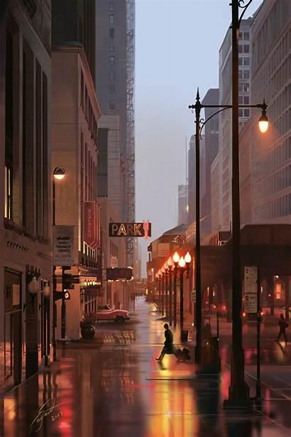 Street Lights Signs Buildings York 4k Desktop