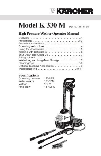 karcher 330 pressure washer manual related keywords k 228 rcher k 330 m electric power high pressure washer owners manual