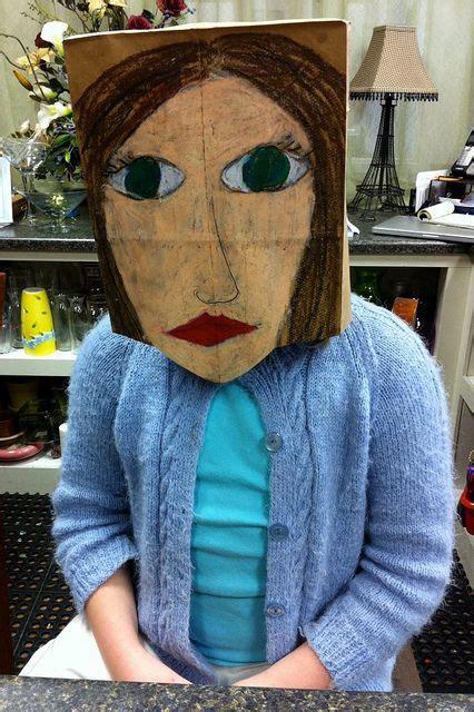 paper bag mask kids art class elementary art oil
