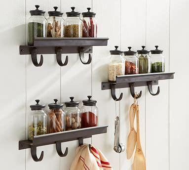 Pottery Barn Spice Rack by Modular Spice Shelf With Hooks Pottery Barn