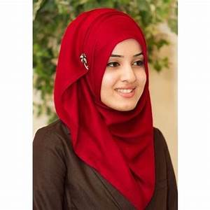 5 Most Beautiful Red Hijab Styles for Muslim Girls/Women ...