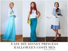 Girl  HOMEMADE HALLOWEEN  DIY DISNEY PRINCESS HALLOWEEN COSTUMES  Diy Disney Costumes