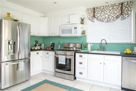 cost kitchen makeover   coastal style diy