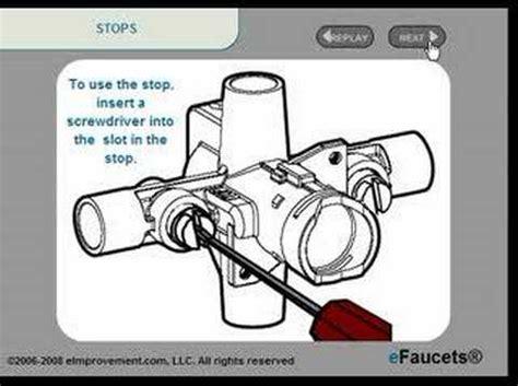 glacier bay shower faucet temperature adjustment shower valve stops tutorial by efaucets
