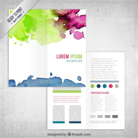 Colorful Flyer Psd Template Free Download by Colorful Watercolor Flyer Template Vector Free Download