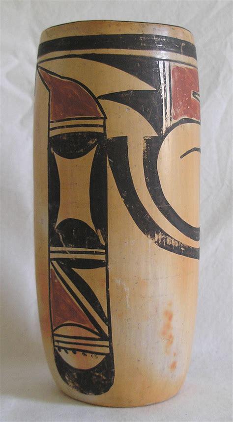 hopi pottery cylinder vase antiques board