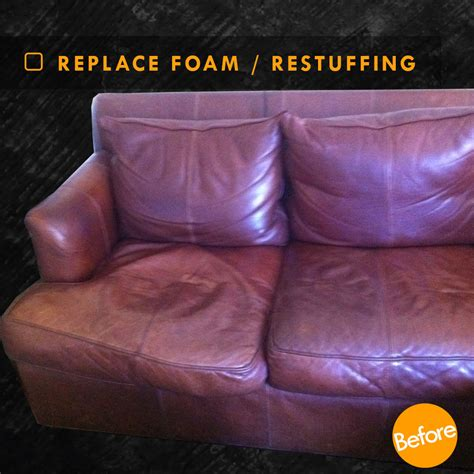 Restuffing Sofa Cushions Atlanta by Replacement Foam For Leather Sofa Aecagra Org