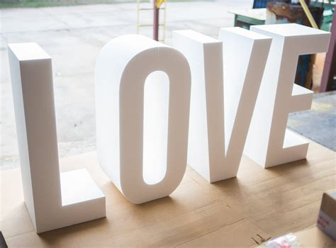 large foam letters request a custom order and something made just for you