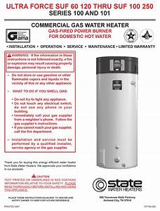 State Water Heaters Ultra Force 100 Installation