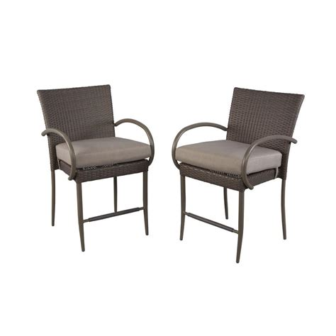 Outdoor Balcony Chairs by Hton Bay Posada Balcony Height Patio Dining Chair With