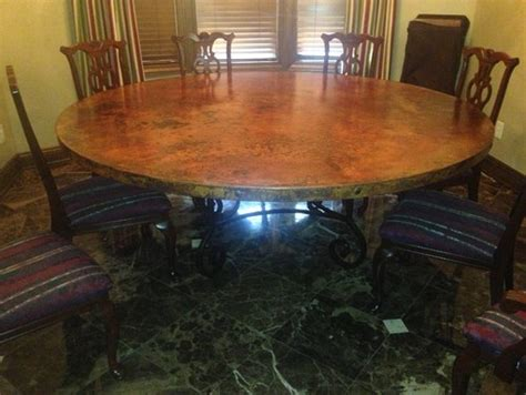 what of chairs for a copper dining table