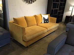 Gus modern Margot sofa in velvet gold leaf at urbanloft ...