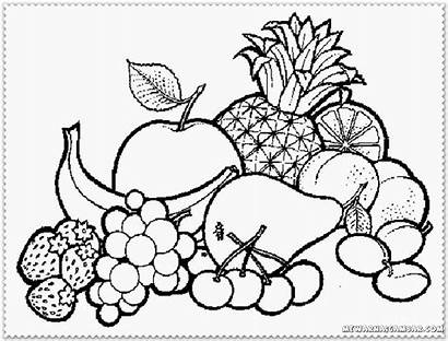 Coloring Basket Pages Fruits Fruit Colouring Popular