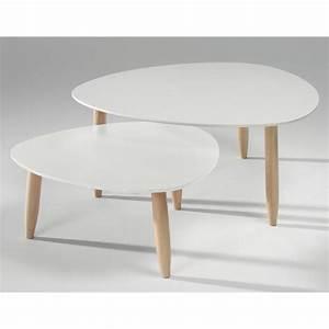 Table Basses Gigogne : table basse gigogne en pin le bois chez vous ~ Zukunftsfamilie.com Idées de Décoration