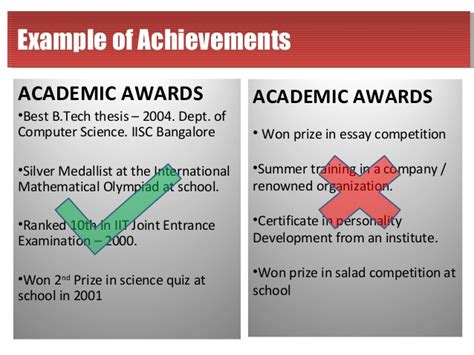 listing academic achievements on resume resume is mirror of your personality