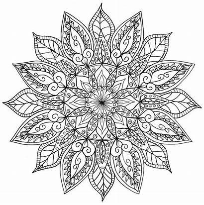 Mandala Coloring Adults Colouring Colour Tattoo Manda