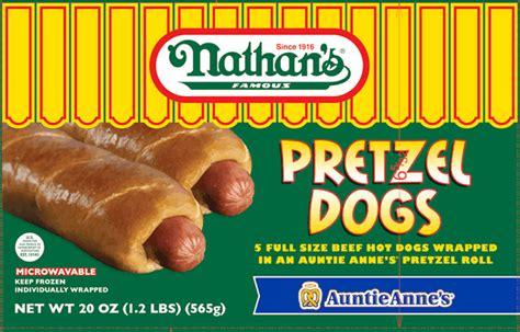 nathans famous auntie annes pretzel dogs