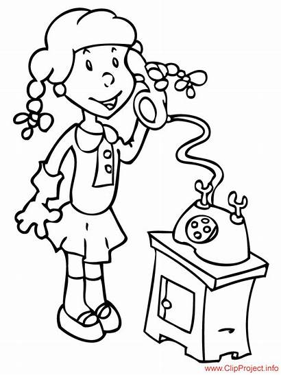 Phone Speaking Coloring Sheet Pages