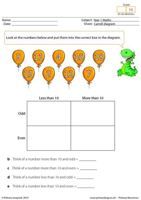 carroll diagram worksheets year 2 primaryleap co uk data carroll diagram worksheet