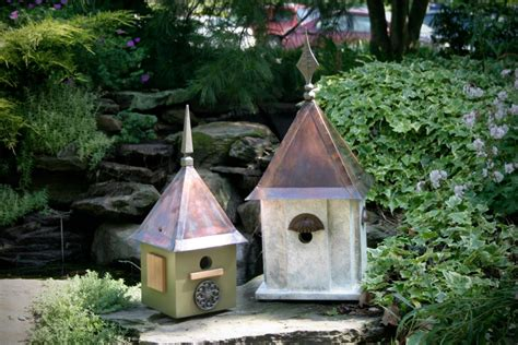 pictures of bird houses in gardens