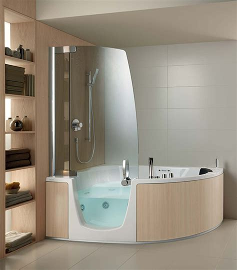 Whirlpool Tub Shower Combination by Corner Whirlpool Shower Combo By Teuco
