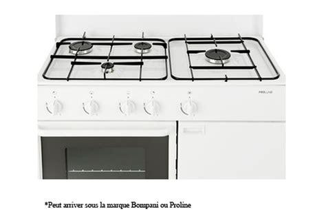 piano cuisine gaz gaziniere proline butanette pbt850w f pbt850w f 3495507