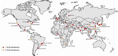 Carte Du Monde Villes Mondiales by Les 10 Plus Grandes Villes Du Monde Je Passe Mon Brevet