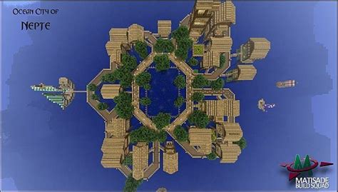 oceanic city  nepte minecraft project city minecraft projects ocean