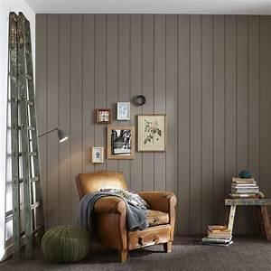 lambris pin brosse brun taupe n3 l260 x l135 cm ep With porte d entrée pvc avec panneau décoratif mural salle de bain