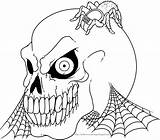 Halloween Colorings Skeleton Coloring Pages Adult Printable Colouring Skull Skeletons Scary Printables Vampire Books sketch template