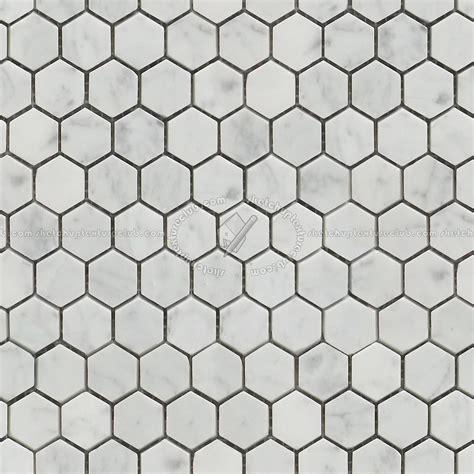 Carrara hexagonal marble tile seamless 14878
