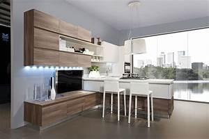 Cuisine bois et blanc recherche google cuisine for Idee deco cuisine avec cuisine blanc laqué et bois