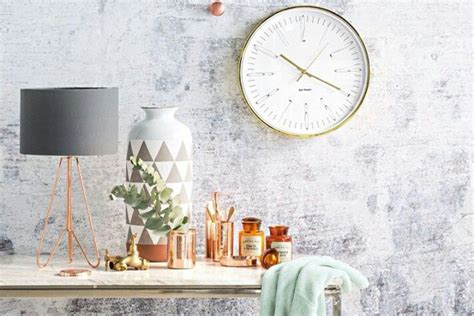 Modern Copper Home Decor Inspiration With Grey And Mint