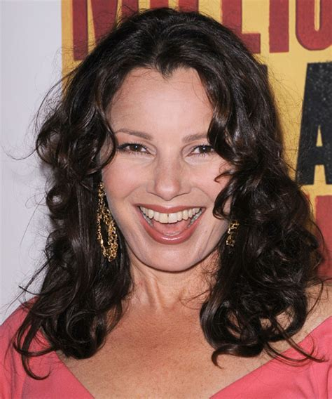 Fran Drescher Long Curly Casual Hairstyle   Black Hair Color