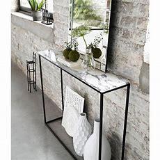 Mahaut Marble & Metal Console Table  Objets Déco Inspi