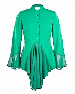 esther clergy blouse green With designer robes