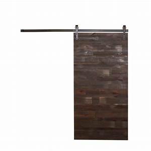 rustica hardware 42 in x 84 in reclaimed horizontal wood With 84 inch barn door hardware