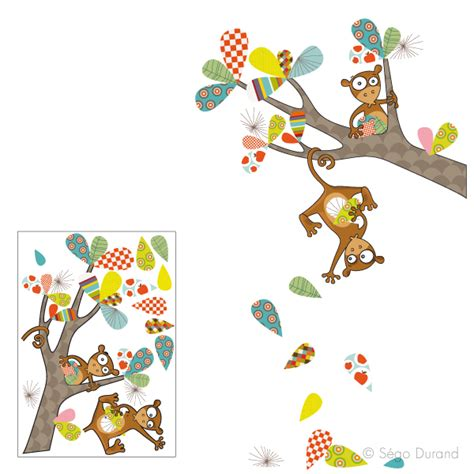 sticker mural enfant sticker mural les singeries de stickers enfant